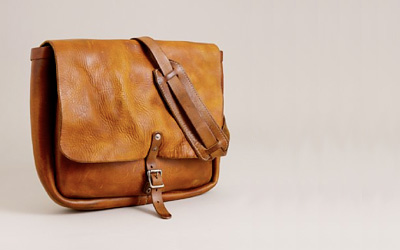 J.Crew US Postal Leather Messenger Bag